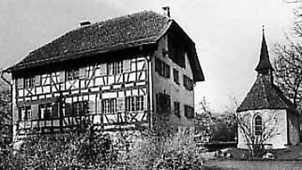 Historisches Ritterhaus (Riegelhaus) mit Kapelle